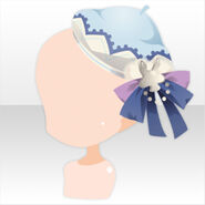 (Head Accessories) Champignon Bow on Beret ver.A blue