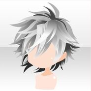 (Hairstyle) Undercore Rough Short Hair ver.A white