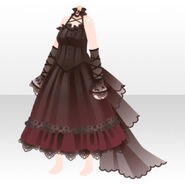 (Tops) Devil Long Dress in Darkness ver.A black