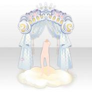 (Back Accessories) Dream World Cloud Curtain ver.A white