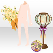 (Hand Accessories) Doll's Festival Lamp and Flower Ornaments ver.A green