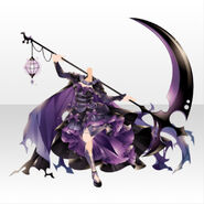 (Tops) Underworld Death Scythe Gothic Cape Dress ver.A purple