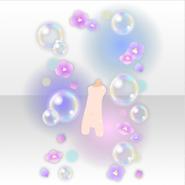 (Avatar Decor) Floating Bubbles & Hydrangea ver.A purple