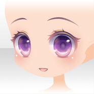 (Face) Peluche Shy Smile Face ver.A purple