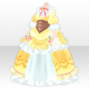 (Tops) Taisho Romantic Dress ver.A yellow
