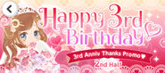 (Banner) CocoPPa Play 3rd Anniversary Thanks Promo