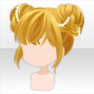 (Hairstyle) Fairy Buns Hair with Beads Accessory ver.A yellow