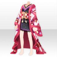 (Tops) Taisho Modern Kimono ver.A red