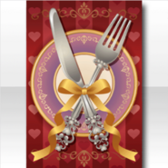 (Wallpaper Profile) Valentine's Day Table Setting Wallpaper ver.A red
