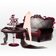 (Avatar Decor) Elegant Perfume Sofa and Table ver.A red