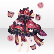 (Tops) Butterfly & Horror Girl Frilled Dress ver.A red