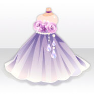 (Tops) Fairy Cocktail Dress with Flowers ver.A purple