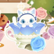 (Characters) Afternoon Tea - Magic Cup Cat Blue