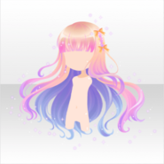 (Hairstyle) Night Dress Party Night Sky Fluffy Hair ver.A pink