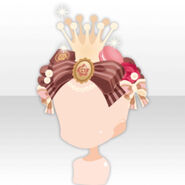 (Head Accessories) Milk Crown Ribbon Headband ver.A brown