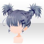 (Hairstyle) Phantom Active Braided Hair ver.A blue