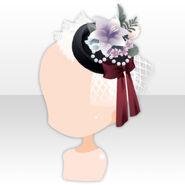 (Head Accessories) La Clarte Lily Lace Hat ver.A red