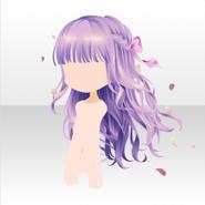 (Hairstyle) Secret Fleur Curly Long Hair ver.A purple
