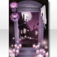(Wallpaper Profile) Night Halloween Wallpaper ver.A pink