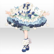 (Tops) Champignon Fluffy Lolita Dress ver.A blue