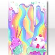 (Wallpaper Profile) Magical Pot Melting Cake Wallpaper ver.A purple