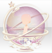 (Back Accessories) Traveling Stars Celestial Globe ver.A pink