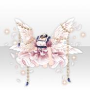 (Tops) Fallen Feather Lightning Angel Chain Dress ver.A white
