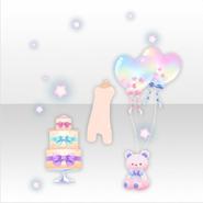 (Avatar Decor) Happy Teddy Cake & Balloon Celebrate ver.A pink