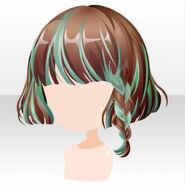 (Hairstyle) Chocolat Knight Braided Bob Hair ver.A green
