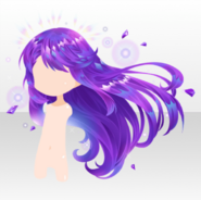 (Hairstyle) Jewelry Princess Waving Amethyst Long Hair ver.A purple