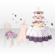 (Avatar Decor) Lolita Paradise Flower Garden Tea Party Set ver.A purple