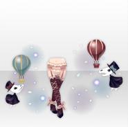 (Pant&Skirt) Hollow Park Skeletons and Bone Socks ver.A pink