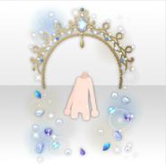 (Avatar Decor) Classic Rococo Tiara Jewlery Arch ver.A blue
