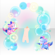 (Back Accessories) With DayDream Twinkling Bubbles & Cats ver.A blue