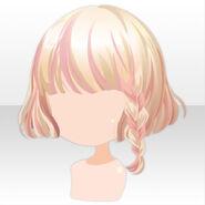 (Hairstyle) Chocolat Knight Braided Bob Hair ver.A pink