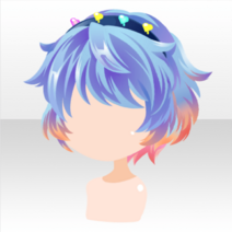 (Hairstyle) Glittery Zombies Underlayer Short Hair ver.A blue