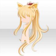 (Hairstyle) Oinari-sama Fox Ears on Long Hair ver.A yellow