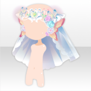 (Head Accessories) Beautiful Elf Veil of Happiness ver.A white