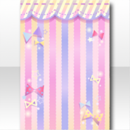 (Wallpaper Profile) Sparkle Ribbon Striped Wallpaper ver.A pink