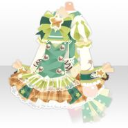 (Tops) Cosmic Star Cheer One-Piece ver.A green