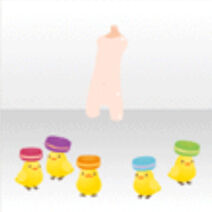 (Body Accessories) Checks Carrying Colorful Macarons ver.A yellow