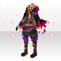 (Tops) Glittery Zombie Cool Jacket Style ver.A black