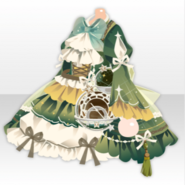 (Tops) Traveling Stars Celestial Globe Frilled One-Piece ver.A green
