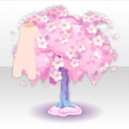 (Avatar Decor) In front of Falling Cherry Blossoms Tree ver.A pink