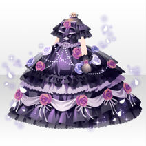(Tops) Moonlit Twinkle Rose Corset Dress ver.A black