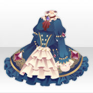 (Tops) Royal Girl Jewelry on Frilled Dress ver.A white