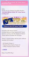 (What's New) VIP TICKET GACHA April 2018