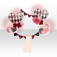 (Back Accessories) Dearest Heart Balloon with Flag ver.A red