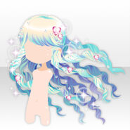 (Hairstyle) Glittering Alice Long Curly Hair ver.A blue