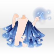 (Outerwear) Moon Pointing Cape ver.A blue